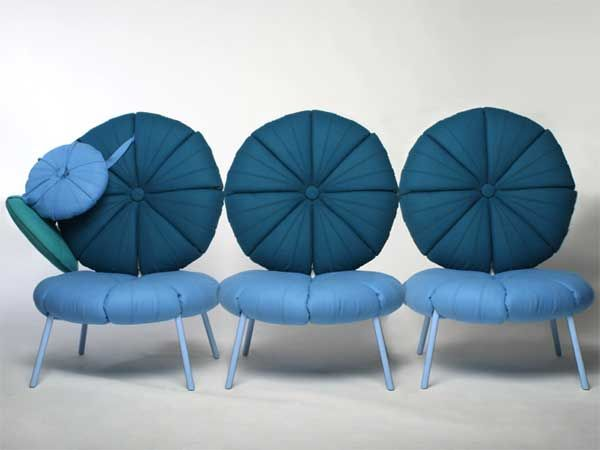 Chairs in blue tones