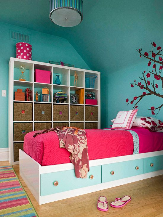 Storage space in the bedroom. 15 ideas