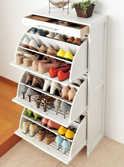 The good and very practical solution for storage of shoes, which will quickly and easily transform the interior.