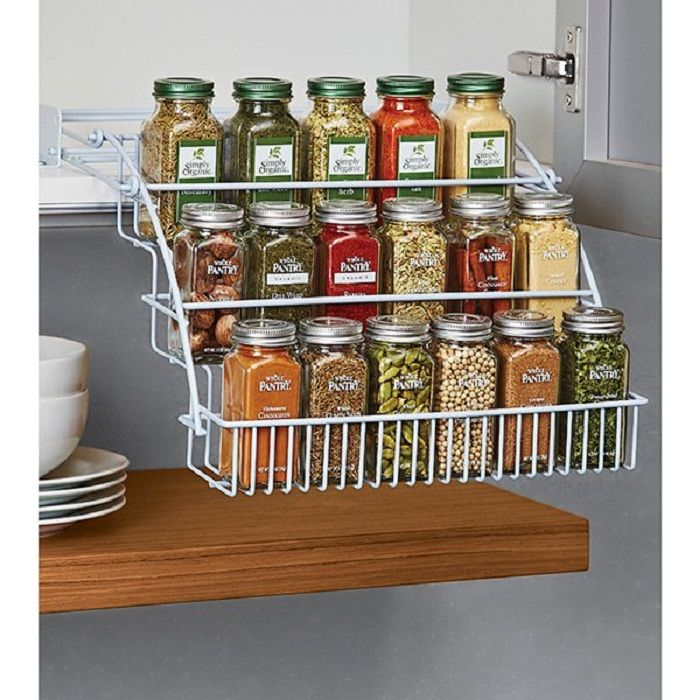 The optimal solution for creating very steep and a nice option for bulk storage in the kitchen.