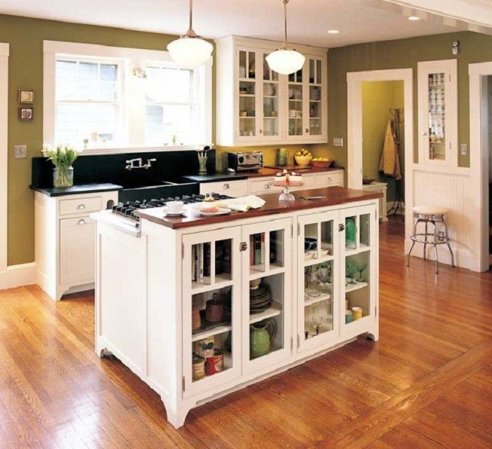 The successful and original option to create a good mood and to optimize the storage space to the max in the kitchen.
