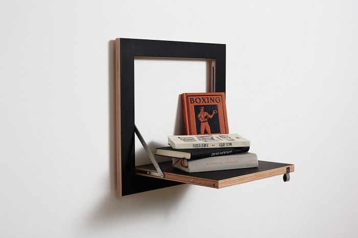 Contents Interior is possible thanks to a beautiful folding wooden shelves.