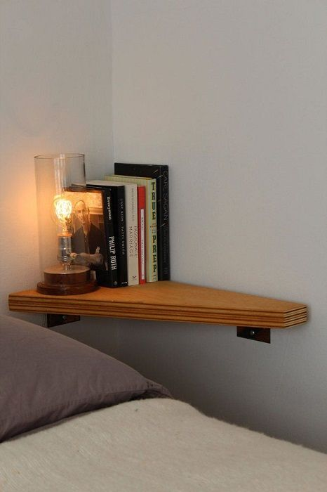 To transform the space in a room rapidly possible using corner shelves.