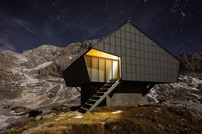 Кабина, преработен от бункера: безплатен подслон за през нощта