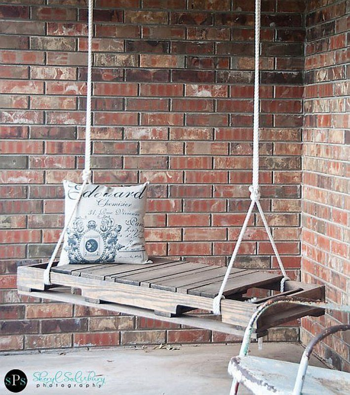 Wooden swing from scrap materials