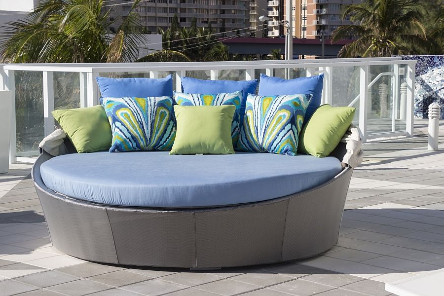 Designer day bed on the terrace