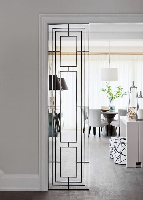 A great example of design space by placing the room divider.