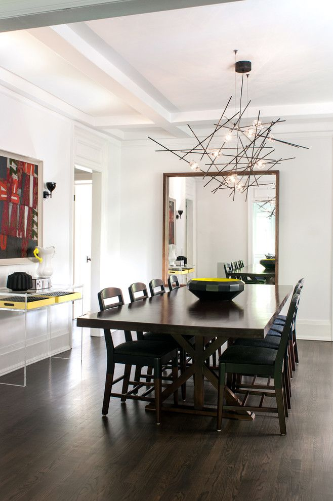 Creative chandelier over the dining table