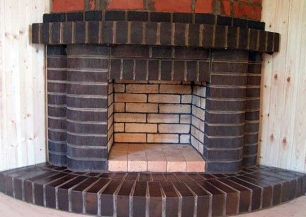 Fireplaces, wood house of bricks with their hands: projects, photos