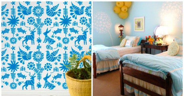 Stencils for walls: Templates