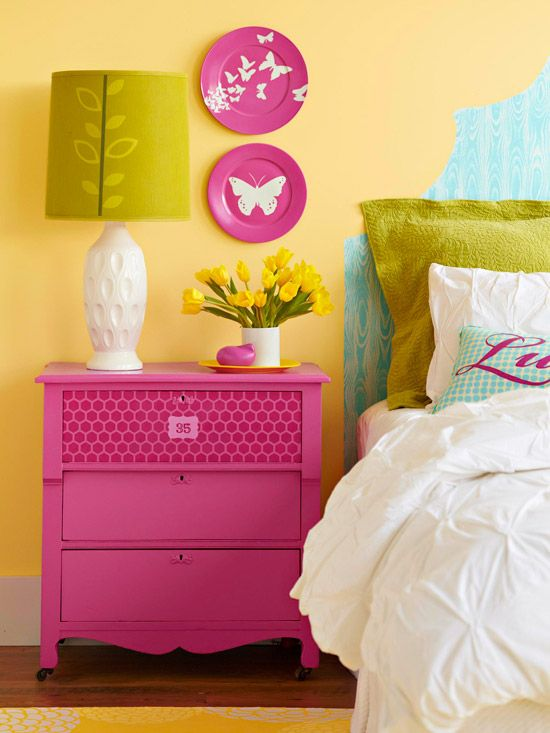 Bright bedroom in the details