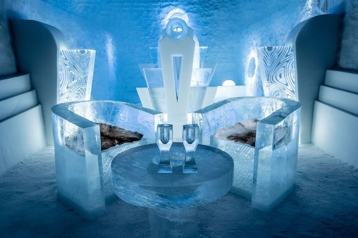Icehotel 365 - ice hotel in Sweden, 200 kilometers from the Arctic Circle.