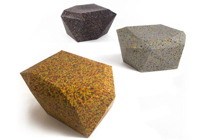 Елегантна градска мебели от пластмасови отпадъци - творчески идеи Родриго Алонсо