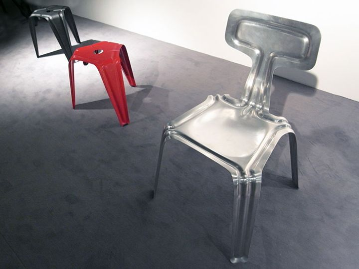 Beautiful chairs made of extruded aluminum