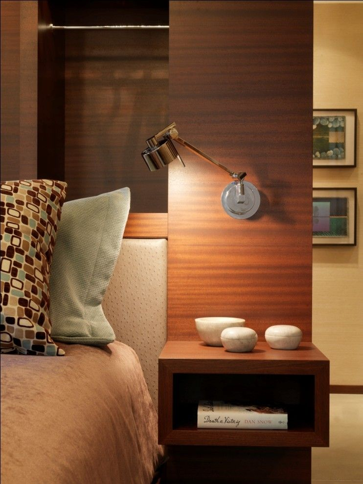 Wall lamp in the interior space