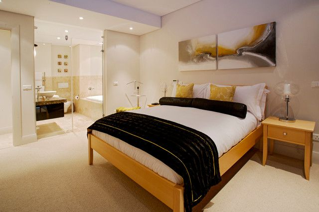The design of a narrow bedroom