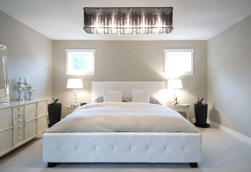 Ceiling light in the interior of a bedroom