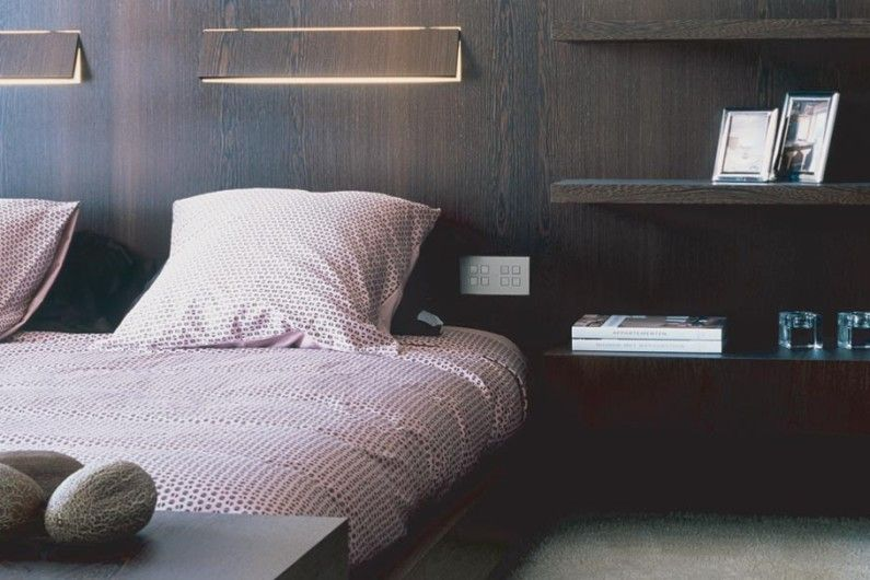 Высота бра над кроватью от пола