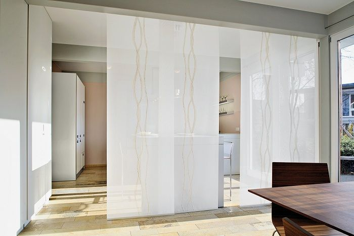 A successful solution to create a cool version of the glass walls that definitely like.