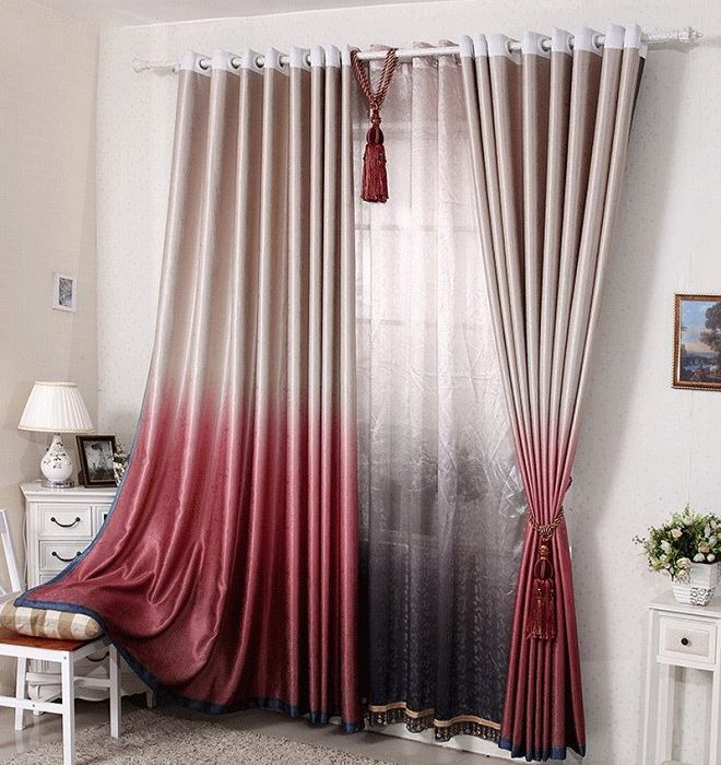 The texture is smooth and silky curtains, and feature - the color of the game.