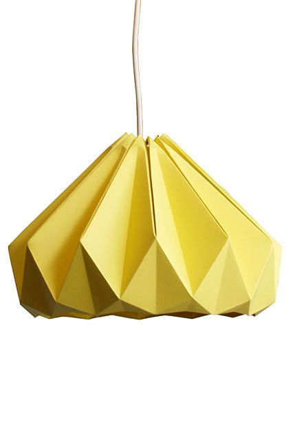 Original hanging chandelier in the form of origami