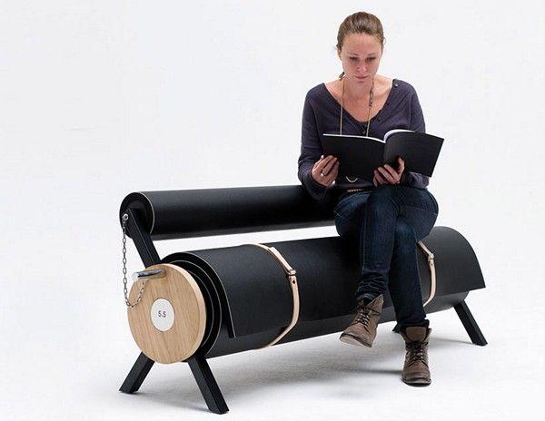 Тежка концепция на младежта мебели от Париж студио 5.5 дизайнери - диван за аскети