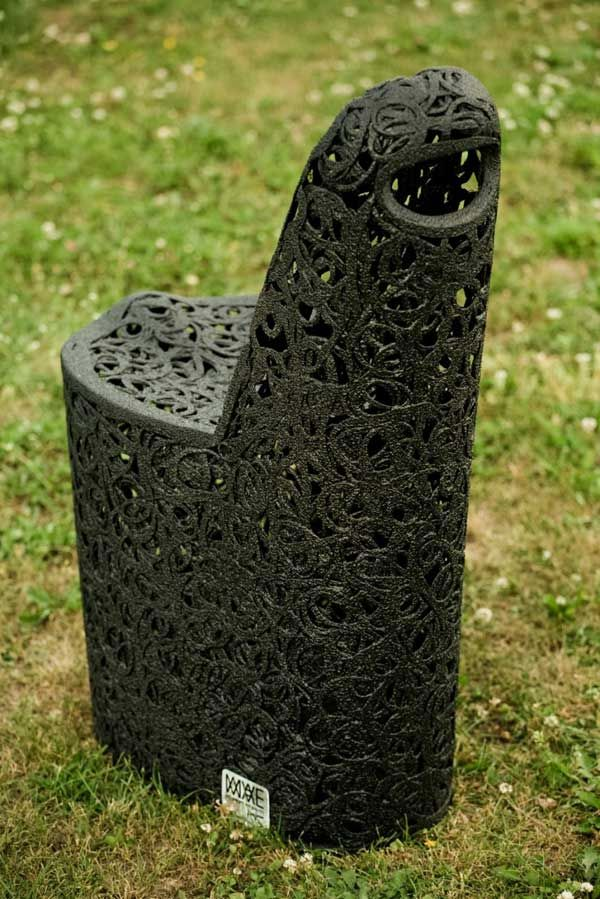 Unmatched chair of basalt