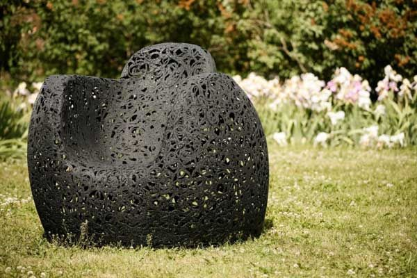 Unique chair made of basalt