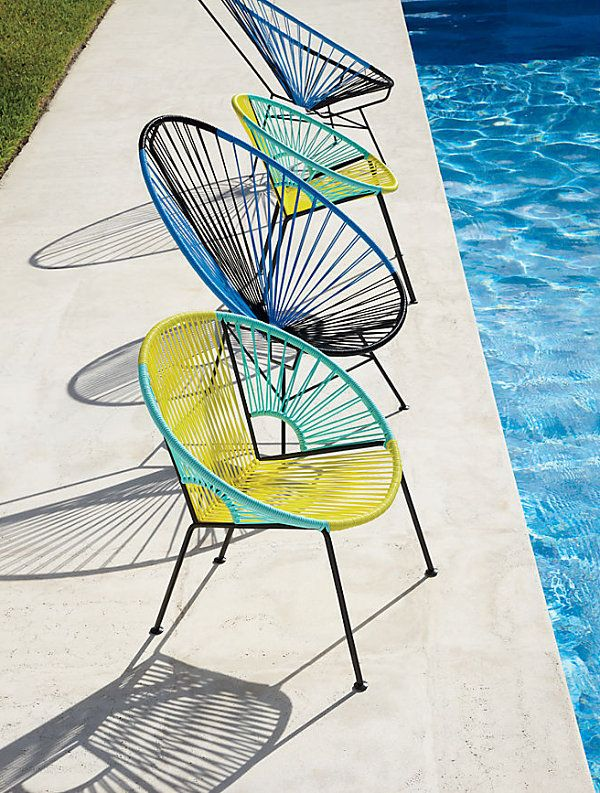 Modern chairs by the pool