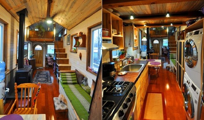 House on wheels. Interior.