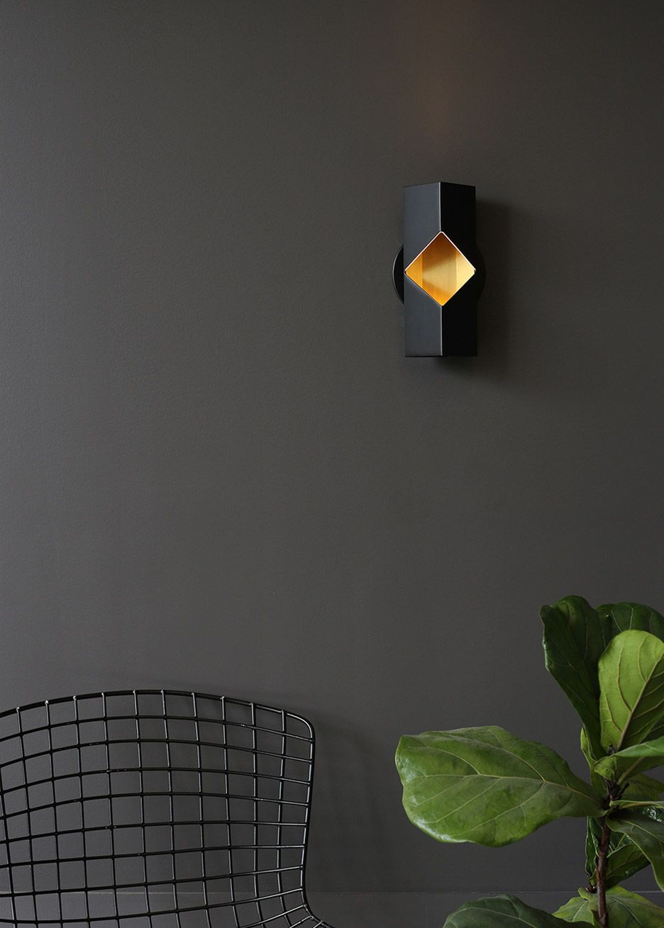 Laconic design luminaires: black wall sconce