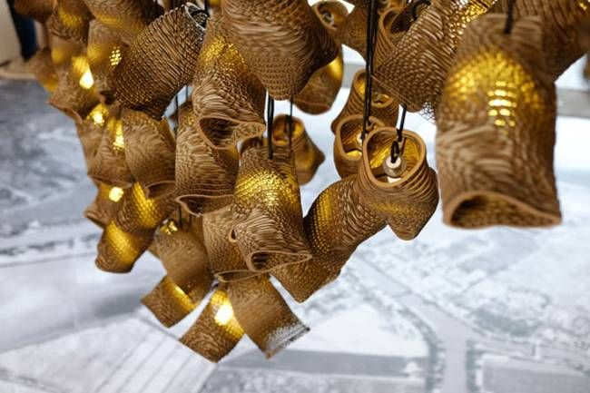 Design lamps made of cardboard - Photo 2
