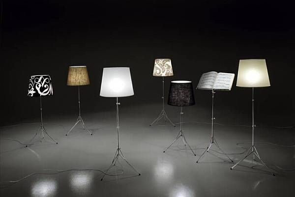 Unusual lamps in different colors