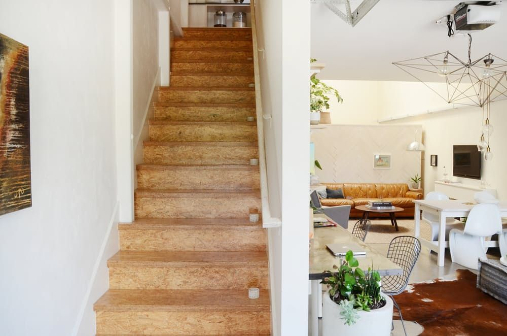 Furniture Attic: a wooden staircase