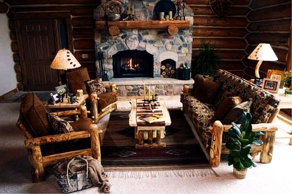 Wooden furniture for the living room