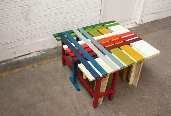 Събиране на улица пейки PlaidBench Колекция от Raw-Edges Studio