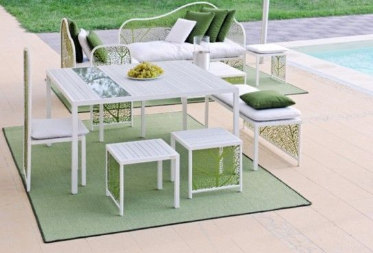 A collection of exquisite garden furniture