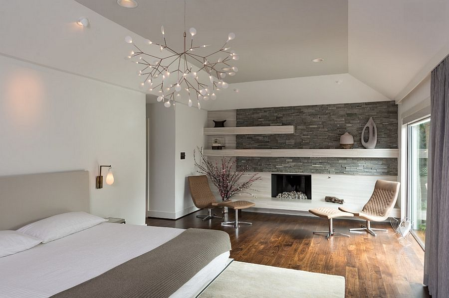 Suspension Heracleum II by Bertjan Pot in the bedroom