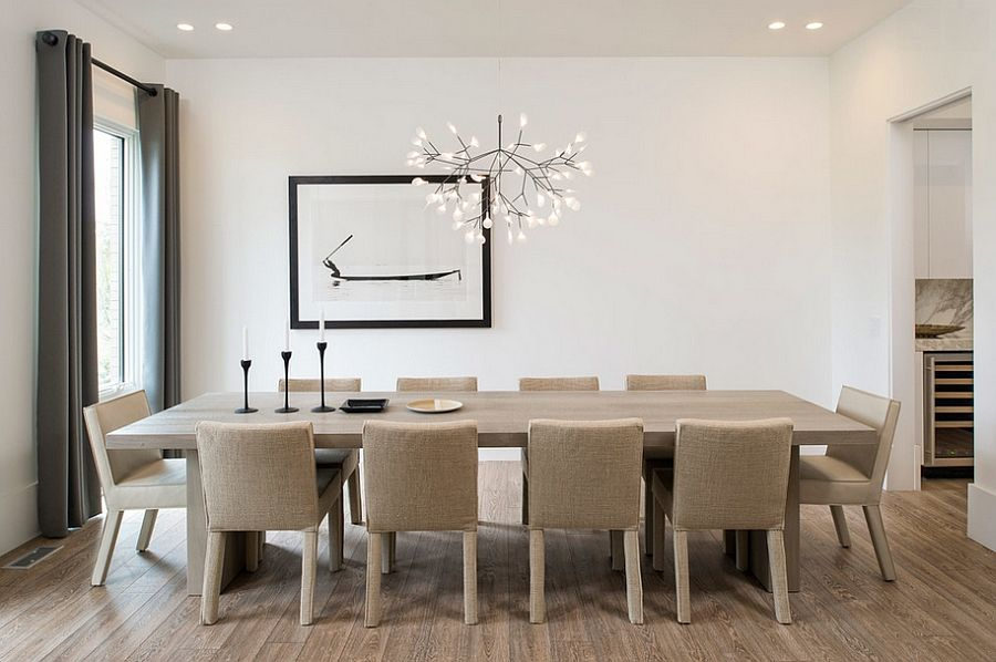 Exquisite hanging lamp Heracleum II by Bertjan Pot in the dining room