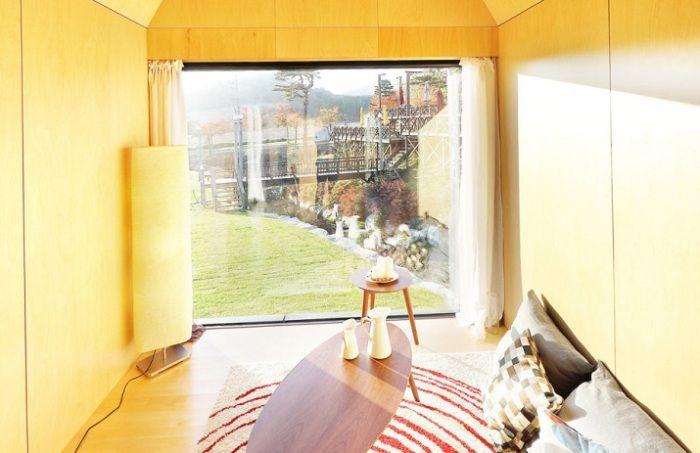 Модулни къщи с обща площ от 19,8 квадратни метра. метра, където можете да имат страхотен уикенд