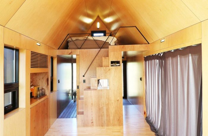 Slow Town Tiny House. Интерьер.