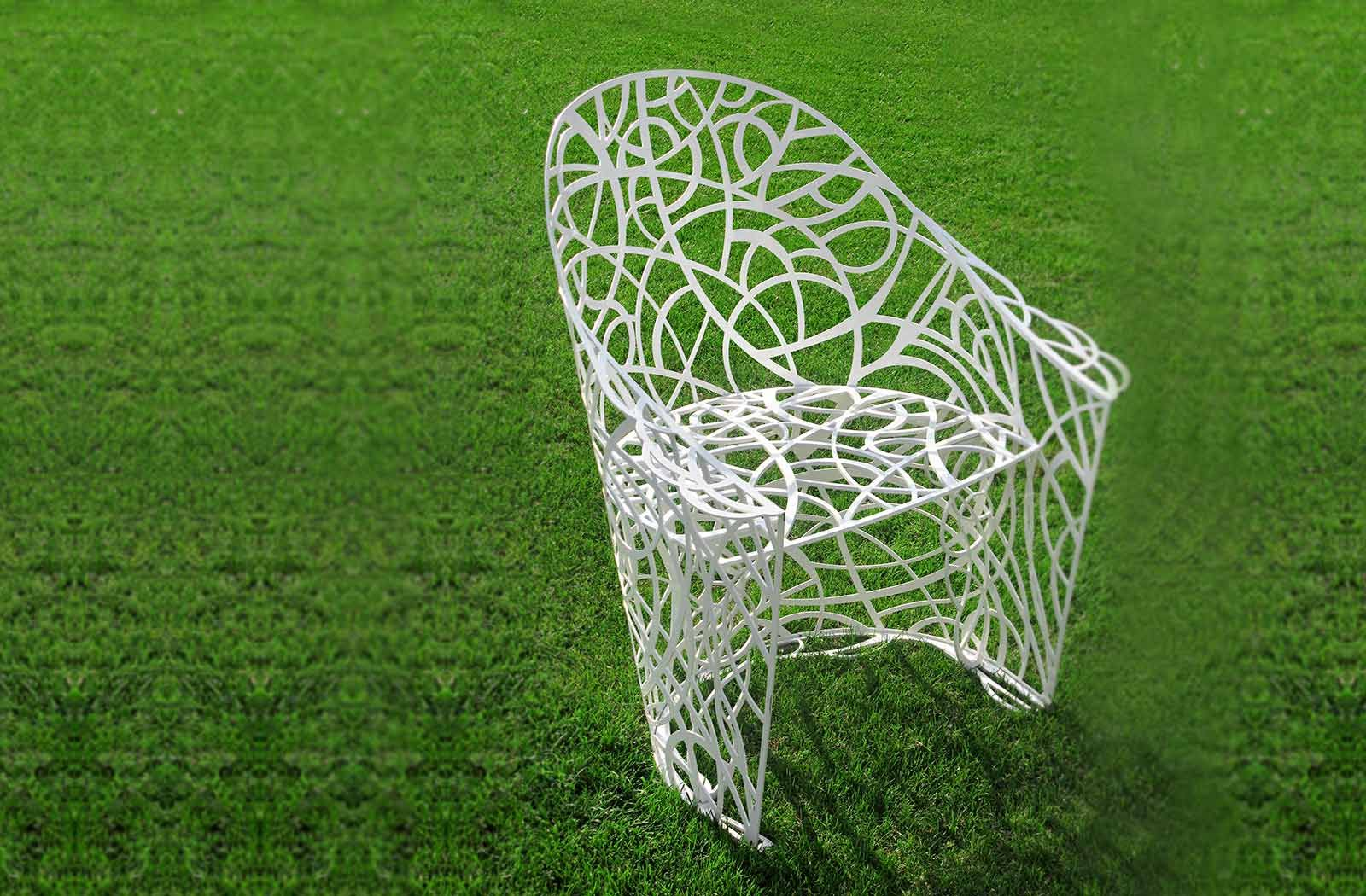 Beautiful chair on the lawn