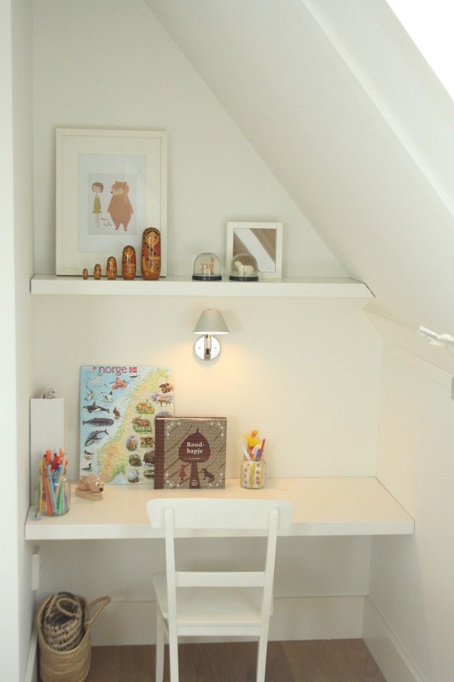 White wall light in your home office