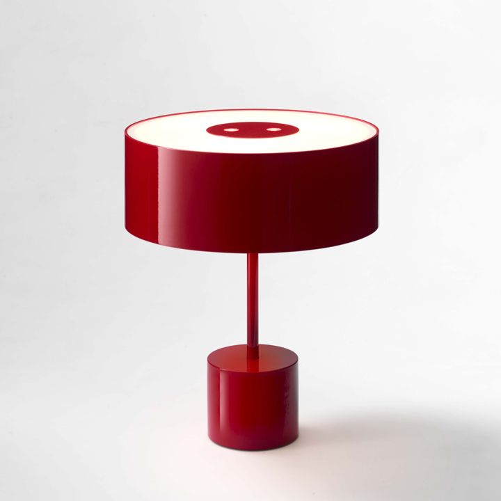 Red table lamp Black Tie