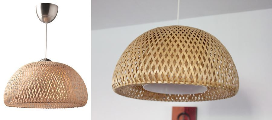Lamps made of rattan