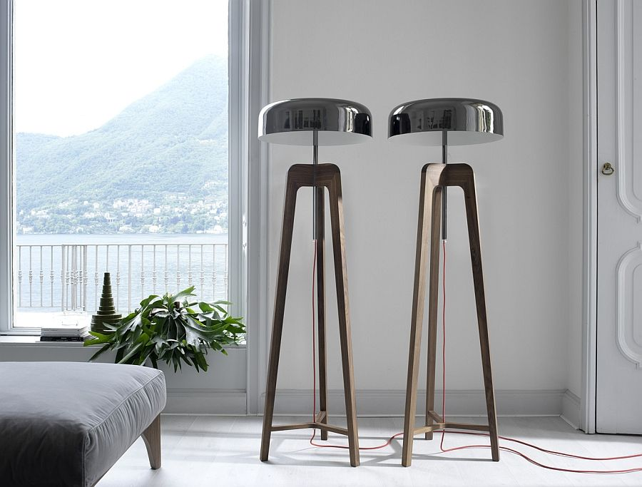 Unique floor lamps in the living room