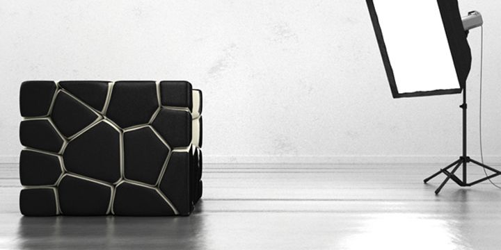 Unusual transformable chair Vuzzle by Christopher Daniel