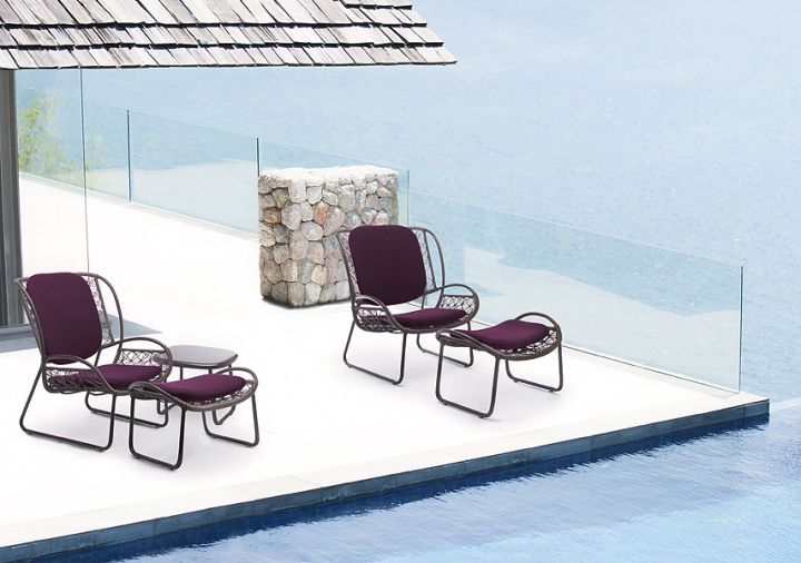 Beautiful chairs by the pool