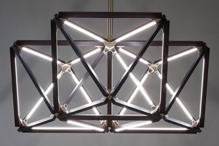 Creative pendant light from X collection by Rux