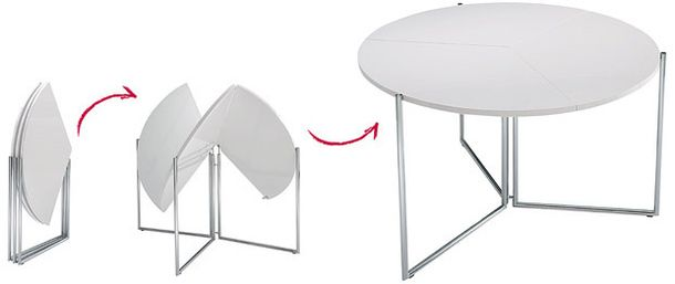 Table made of composite material